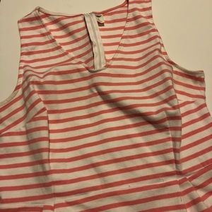 Pink and white striped tank dress